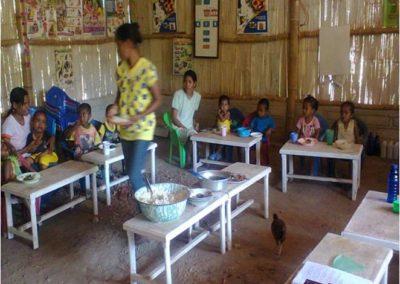 Renovatie schoolgebouwtje in Indonesië